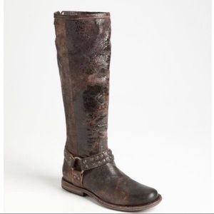 Frye Phillip Studded Harness Tall Riding Boots